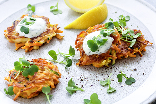 Easy-peasy veggie fritters for the whole fam