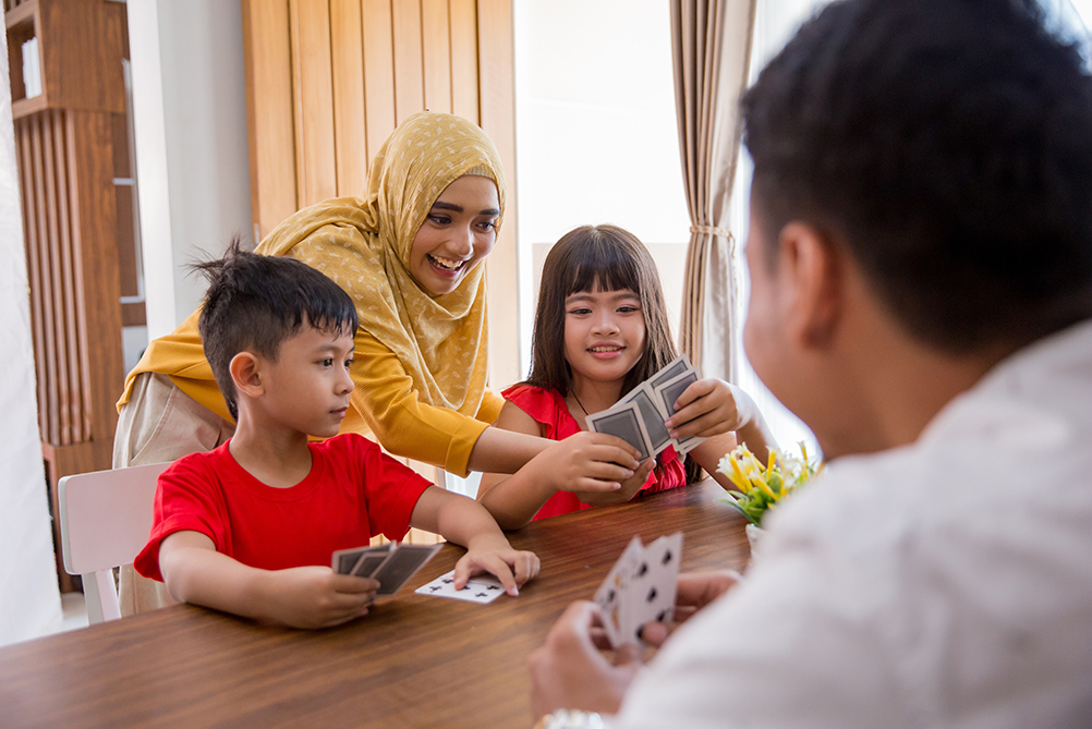 Fun learning card games for children