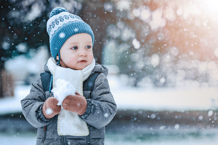 winter themed sensory